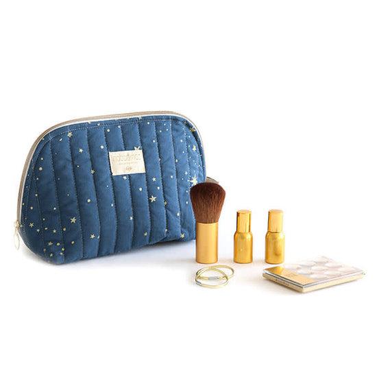 Nobodinoz tipi en accessoires Nobodinoz - toilettas - Holiday Large - Gold Stella - Night Blue