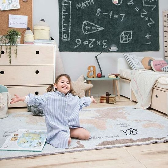 Lorena Canals Rug - Vintage map - Back to school - Lorena Canals