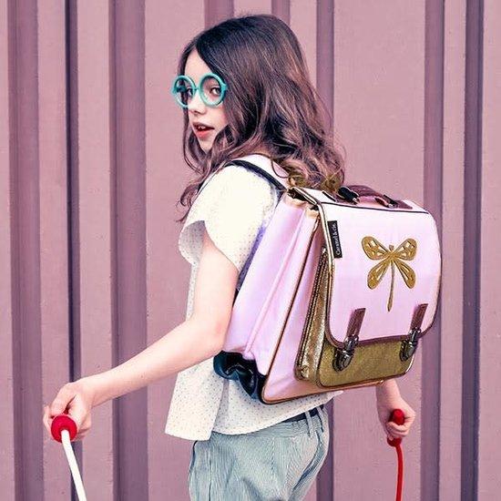 Caramel et Cie School bag - Dragonfly - gold and pink - Caramel et Cie