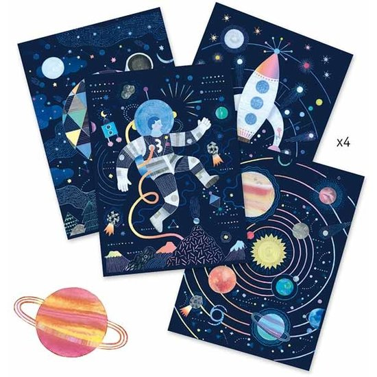 Djeco Djeco - kraskaarten - Kosmische missie 6-11 jr