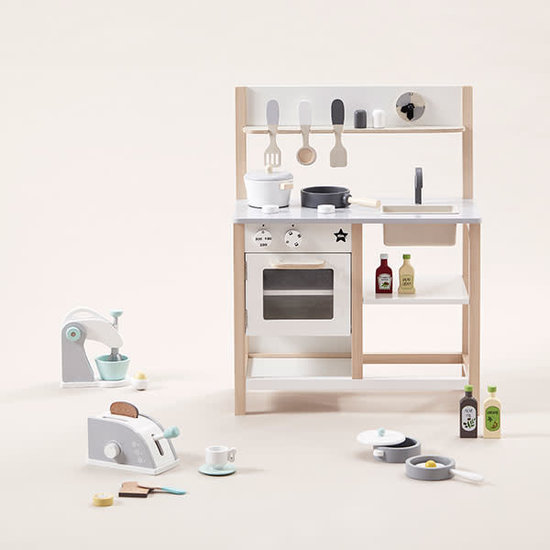 Kid's Concept Wooden play kitchen - natural-white - Kids Concept +2yrs