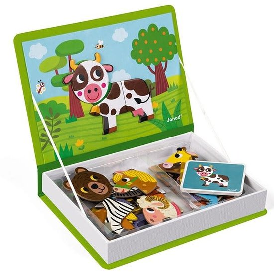 Janod speelgoed Janod - Magnetic Book animals - 40pcs 3-8yrs