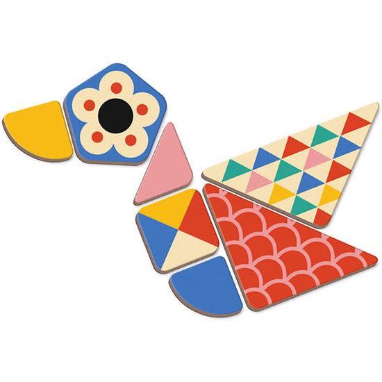Janod speelgoed Janod - magneetboek Moduloform - 73st 3-8jr