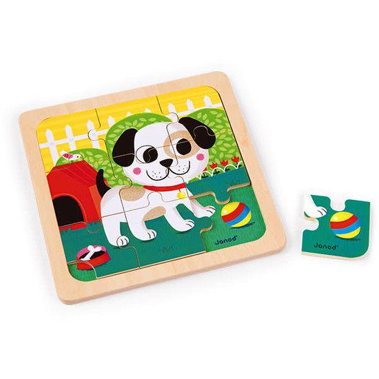 Janod speelgoed Janod - puzzel Hond Titus +18M - 9 stks