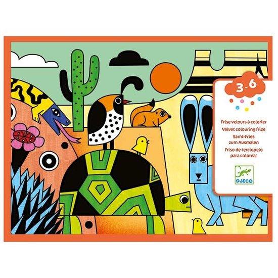 Djeco Kleurplaat fluweel - Colorado - Djeco +3 jr