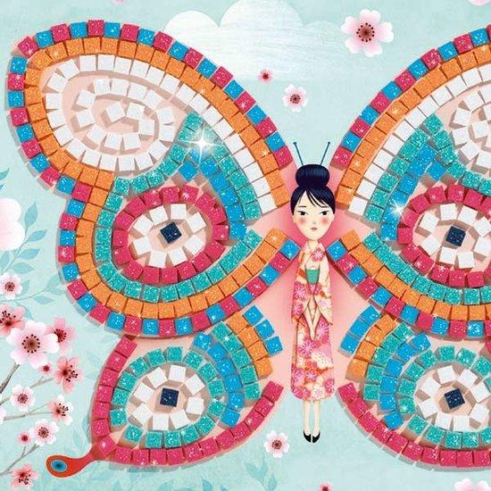 Djeco Mozaïek - vlinders - glitter - Djeco +4 jr
