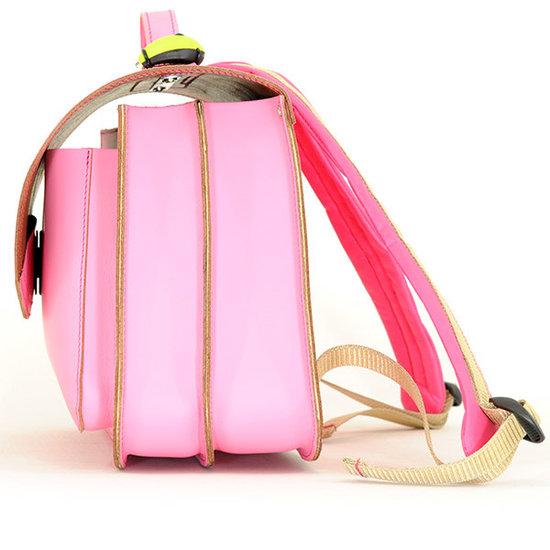 Own Stuff Own Stuff - lederen boekentas roze - magnetisch slot
