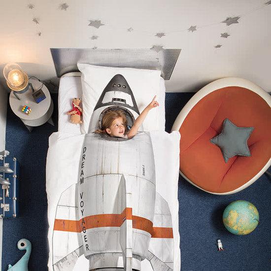 Snurk beddengoed Snurk - dekbedovertrek Rocket - raket