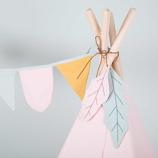 Little Dutch Tipi tent Roze met speelmat en slinger - Little Dutch