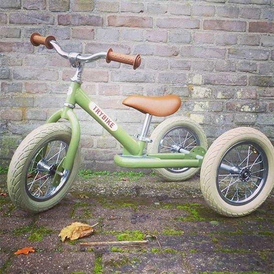 Trybike Loopfietsen Trybike Steel 2-in-1 Laufrad Vintage grün