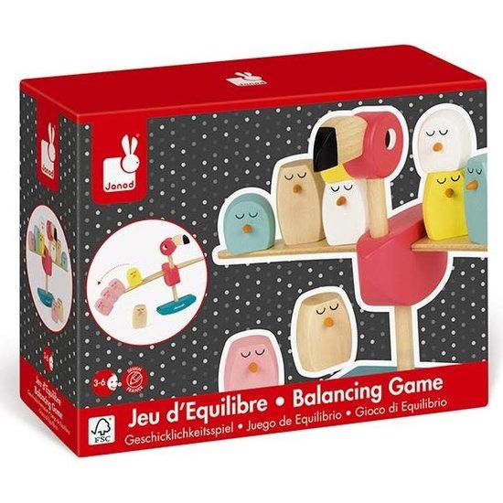 Janod houten speelgoed Janod - balancing game Flamingo - kids game +3 yrs