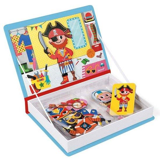 Janod speelgoed Janod - magneetboek jongens kostuums - 44st 3-8jr
