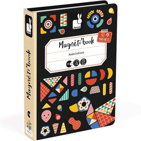 Janod speelgoed Janod - Magnetic Book Moduloform - 73pcs 3-8yrs