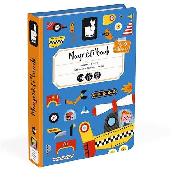 Janod speelgoed Janod - magneetboek Racers voertuigen - 68st 3-8jr