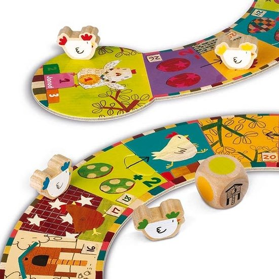 Janod speelgoed Kippenspel - Parcours spel - Janod +3jr