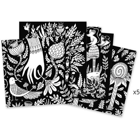 Djeco Coloring pages velvet - Wonderland - Djeco +6 yrs