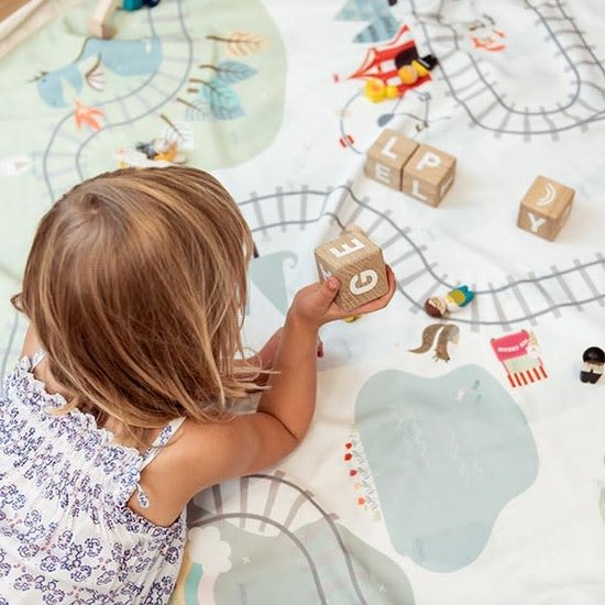 Play and Go Speelmat en opbergzak - Train - Play and Go