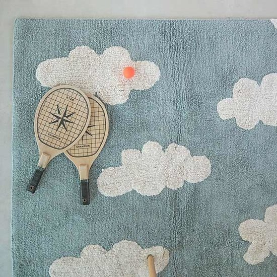 Lorena Canals Tapijt - Cloud - Vintage Blue - Lorena Canals