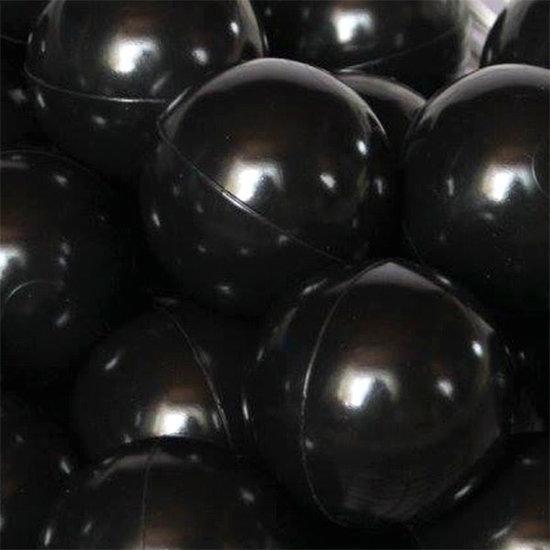 Little Thingz Ballenbad - ball pit - rond grijs - incl 200 ballen grijs-zwart-wit
