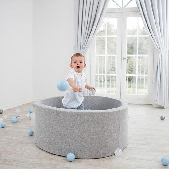 Little Thingz Ballenbad - grijs - incl 200 ballen wit-parel-grijs-zilver-mint