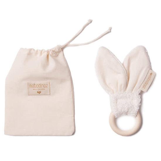 Nobodinoz tipi en accessoires Bijtring - Bunny - Natural - 7cm - Nobodinoz