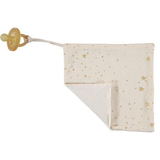 Nobodinoz tipi en accessoires Fopspeendoekje Dodo - Gold Stella-Natural - Nobodinoz