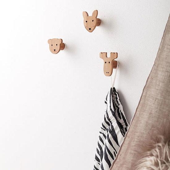 Kid's Concept Garderobenhaken - 3er Set - Bambus - Edvin - Kids Concept