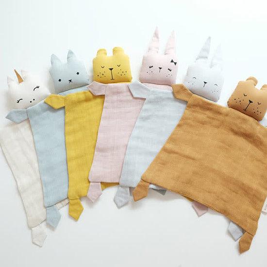 Fabelab Knuffeldoekje - Animal Bunny Mauve - Fabelab