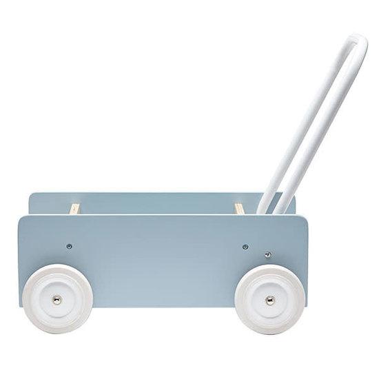 Kid's Concept Loopwagen - blauw grijs - Kids Concept