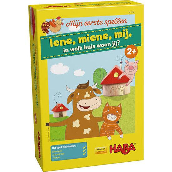 Haba Memory spel - Iene, miene, mij, in welk huis woon jij - Haba +2jr
