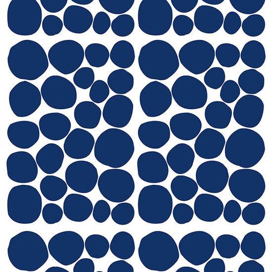 Pom Le Bonhomme Muurstickers Dots blauw - Pöm Le Bonhomme - set 150 stickers