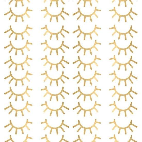 Pom Le Bonhomme Muurstickers mini wimpers goud - Pöm Le Bonhomme - set 72 stickers