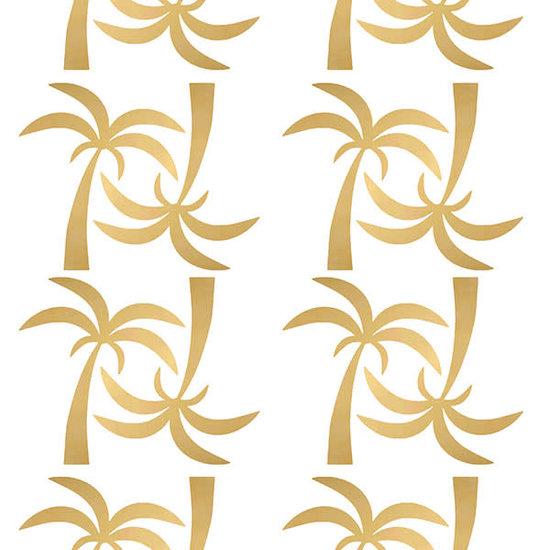 Pom Le Bonhomme Wandtattoo Palmen Gold - Pöm Le Bonhomme - Set von 24