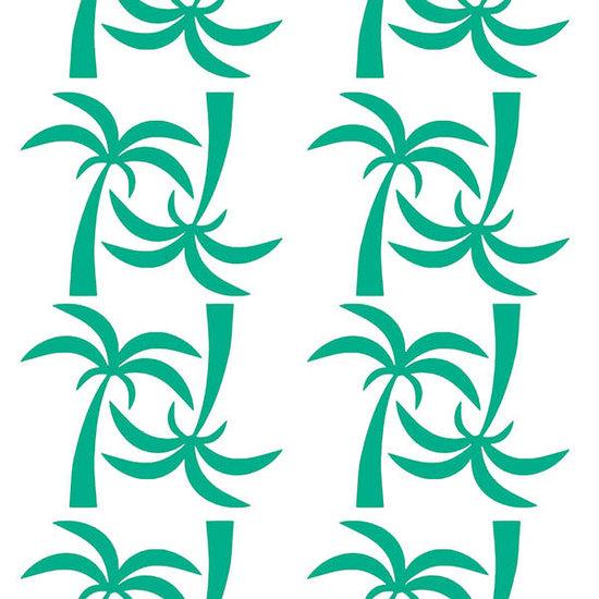 Pom Le Bonhomme Muurstickers palmbomen groen - Pöm Le Bonhomme - set 24 stickers