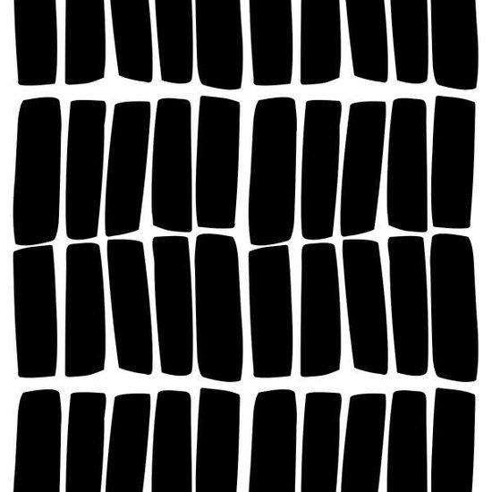 Pom Le Bonhomme Muurstickers sticks zwart - Pöm Le Bonhomme - set 60 stickers