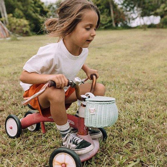 Olli Ella Olli Ella - basket Mini Chari straw - rieten mand - fietsmand