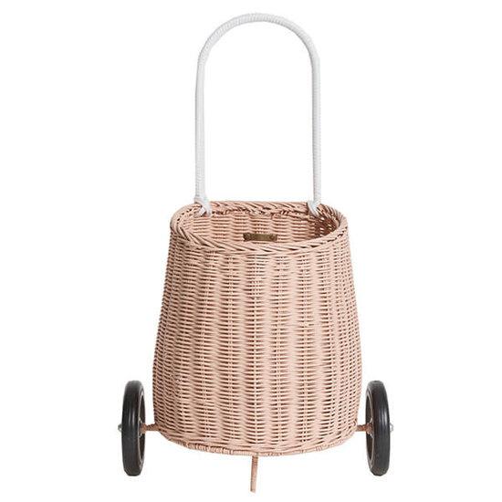 Olli Ella Olli Ella - Luggy basket rose - trolley - rieten mand