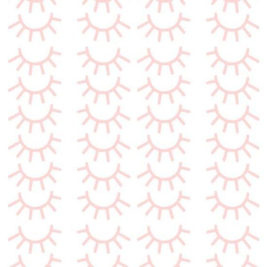 Pom Le Bonhomme Muurstickers mini wimpers roze - Pöm Le Bonhomme - set 72 stickers