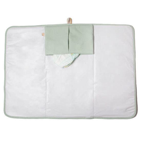 Nobodinoz tipi en accessoires Verschoningsmatje - Mozart waterproof - Aqua Mint - Nobodinoz