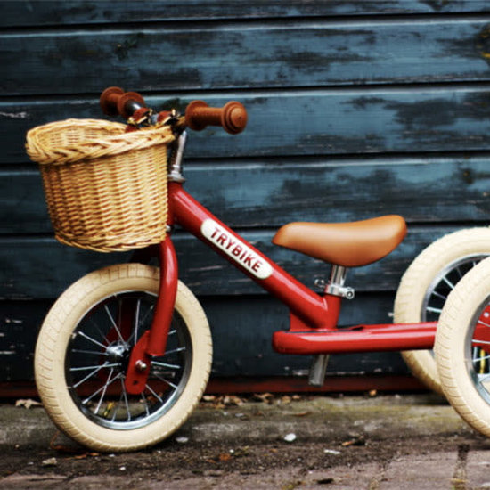 Trybike Loopfietsen Fahrradkorb - Weidenkorb - Trybike