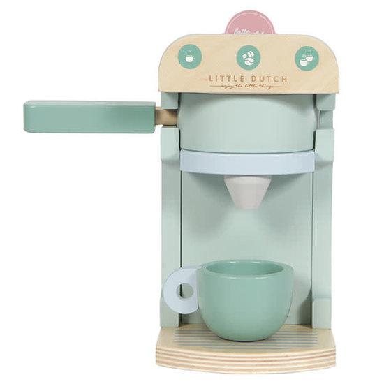 Little Dutch Houten koffiezetapparaat mint - 10-delig - Little Dutch +3jr