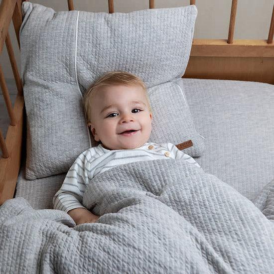 Little Dutch Little Dutch dekbedovertrek voor Baby - Pure Grey