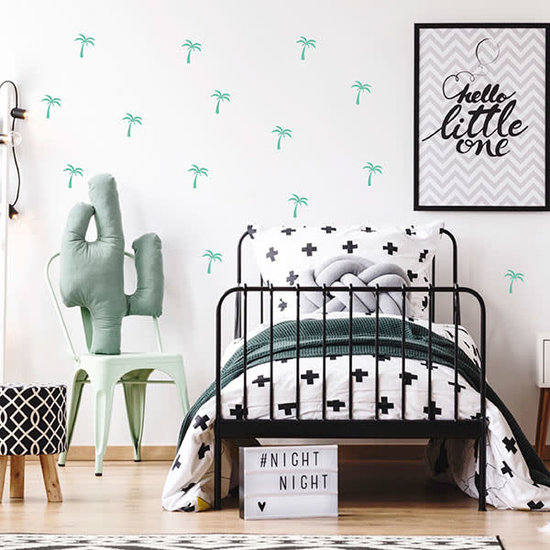 Pom Le Bonhomme Wall stickers palm trees green - Pöm Le Bonhomme - set of 24