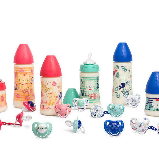 Suavinex Babyflasche Silikon anatomisch 360 ml +6M - Pink Mermaid - Suavinex