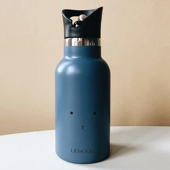 Liewood Thermo drinkfles Anker - Konijn blue wave - Liewood