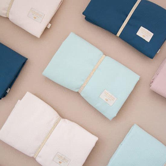 Nobodinoz tipi en accessoires Verschoningsmatje - Mozart waterproof - Night Blue - Nobodinoz