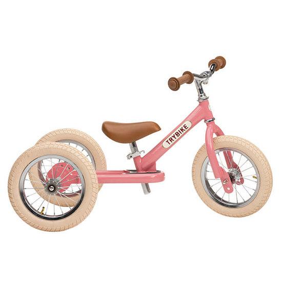 Trybike Loopfietsen Trybike Steel 2-in-1 Laufrad Vintage Rosa