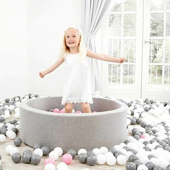 Little Thingz Ball pit - grey - incl 200 balls grey-pink-white-pearl-silver