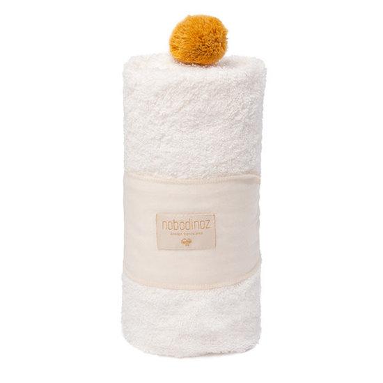 Nobodinoz tipi en accessoires Baby towel bath cape - So Cute - 73x73cm - natural - Nobodinoz