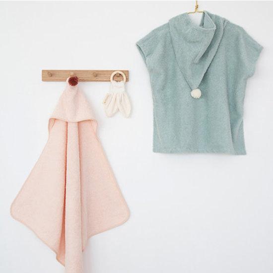 Nobodinoz tipi en accessoires Baby towel bath cape - So Cute - 73x73cm - Pink - Nobodinoz